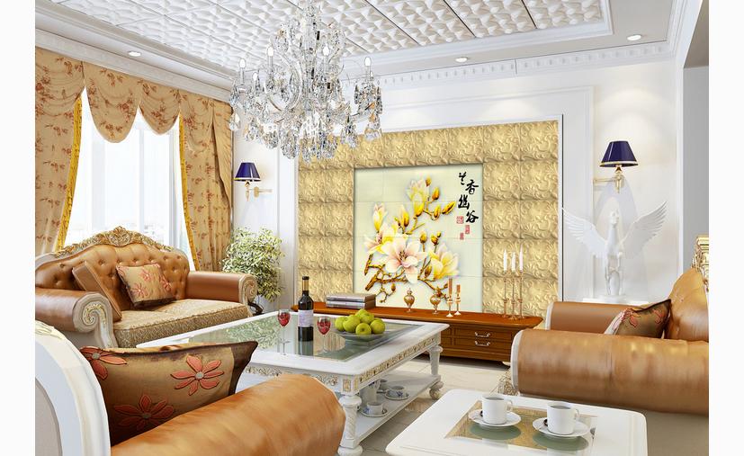 欧式雕花客厅